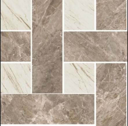 Versace Marble Mosaik Chesterfield Grigio-Bianco 29-1x29-1 cm 02404530-